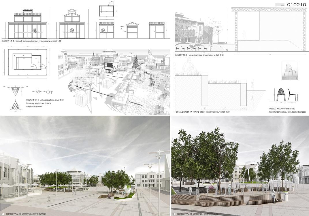 K&Lart design Plac Przyjaciół w Sopocie