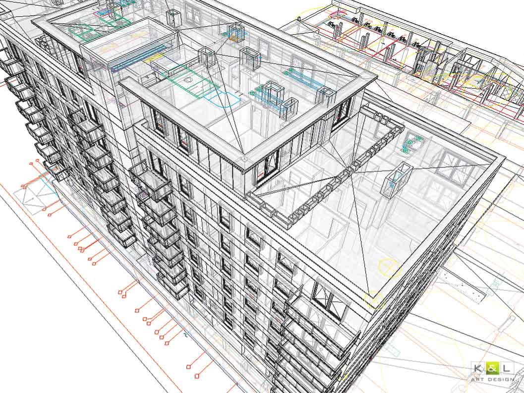 projekt budynku BIM