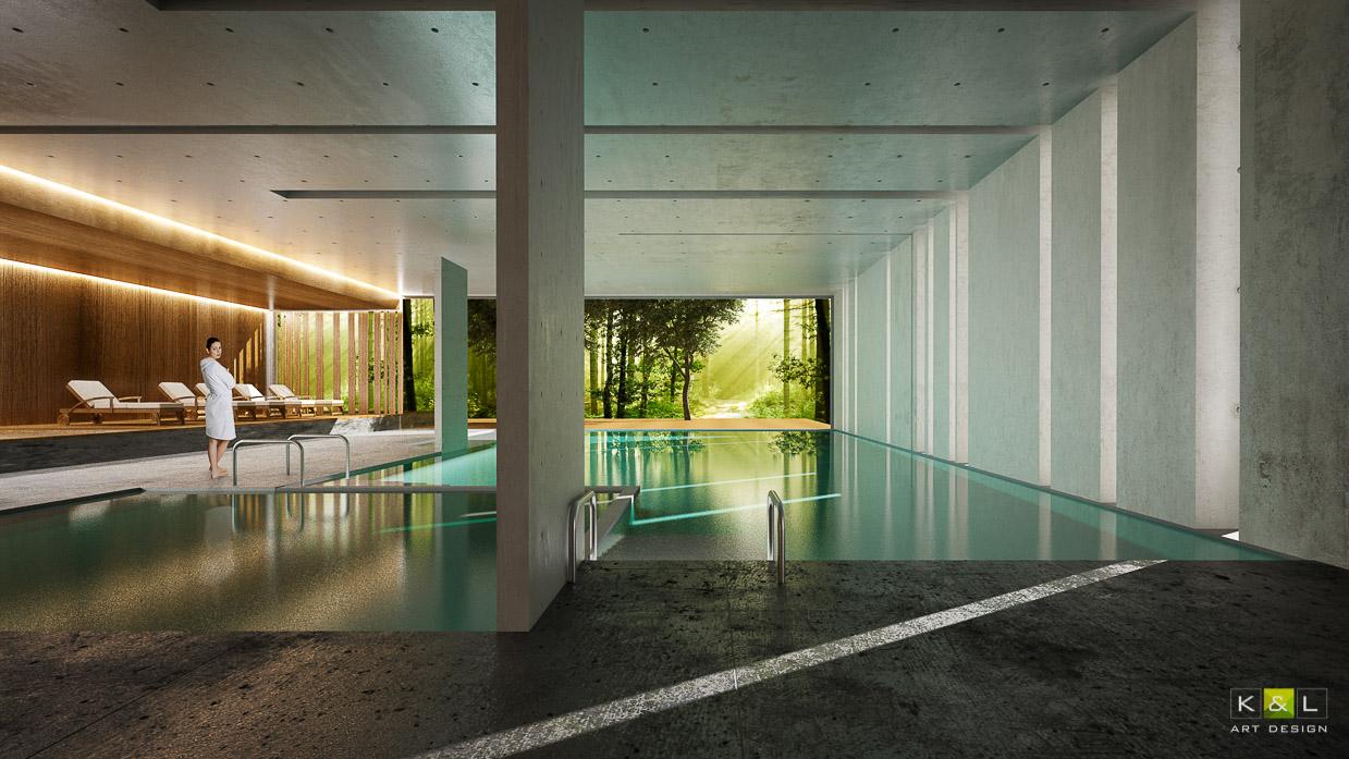 basen hotelowy - projekt KL art design
